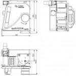 hpdSYSTEM vario vertical hot foil printer full dimensions