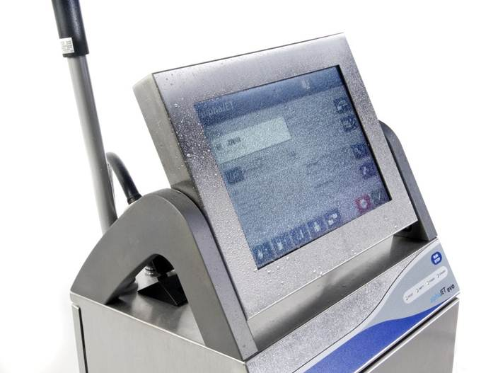 alphaJET Continuous Inkjet Printer with TFT Touchscreen