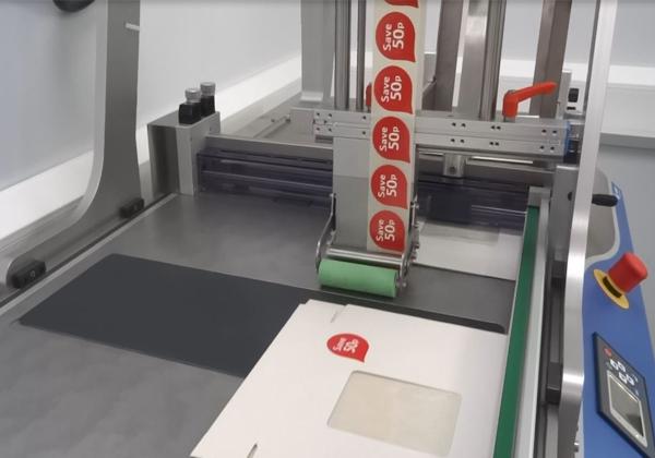 udaFORMAXX I with Label Applicator for Spot Labelling PrintSafe