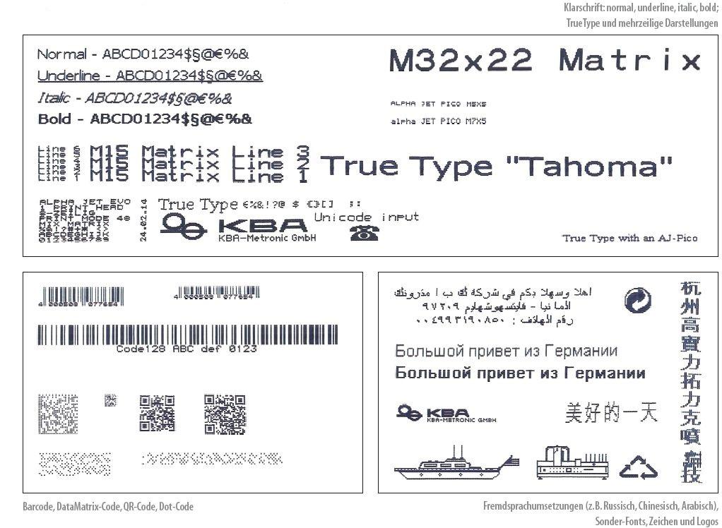 alphaJET Inkjet Print Sample