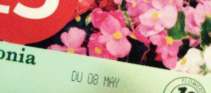 Display Until Date on Plant Tag