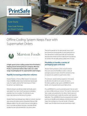Marston Foods Case Study