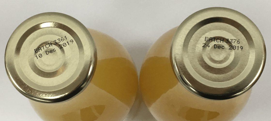 Batch Code Printers Bottle Lids Metal