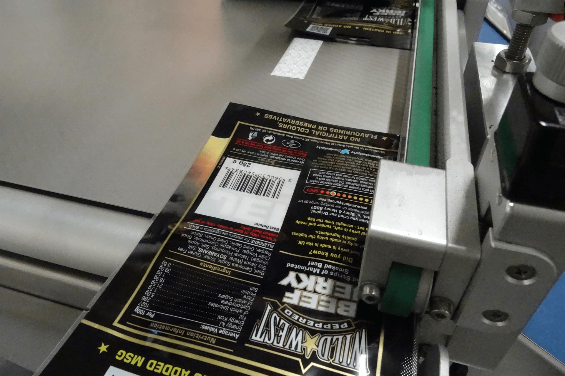 Barcode Printing Pouch Feeding Cruga Biltong