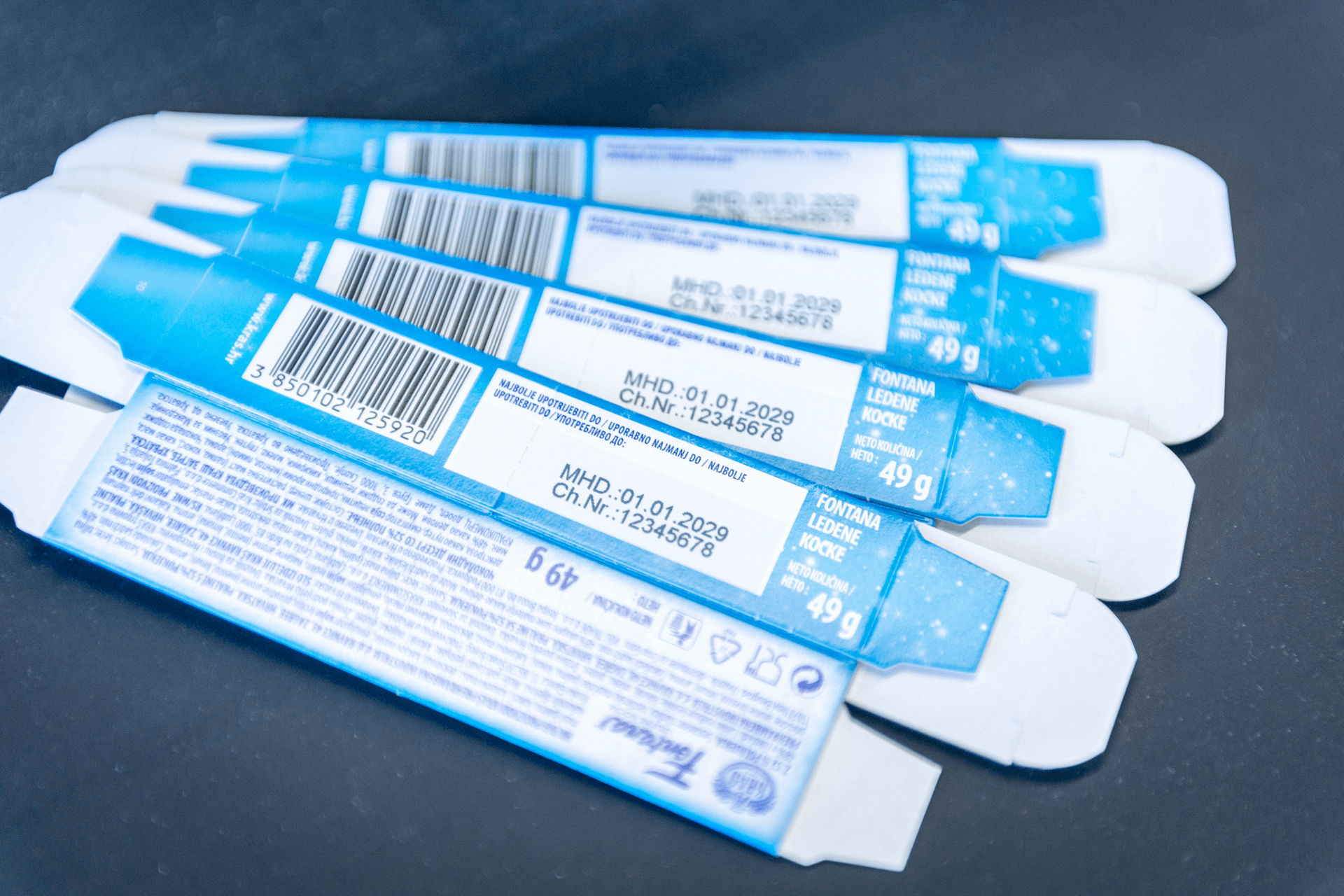 Cartons printed with betaJET thermal inkjet